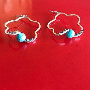 Silver Beautiful Turquoise Earrings